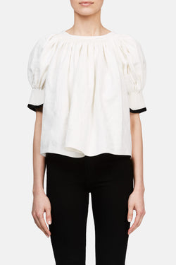 Pleated Blouse - Chalk