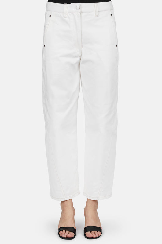 Twisted Denim Pant - Off White