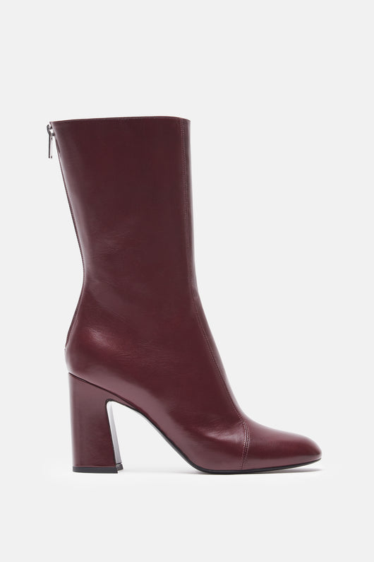 High Ankle Boot - Burgundy