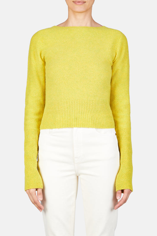 Fitted Sweater - Lemon Yellow