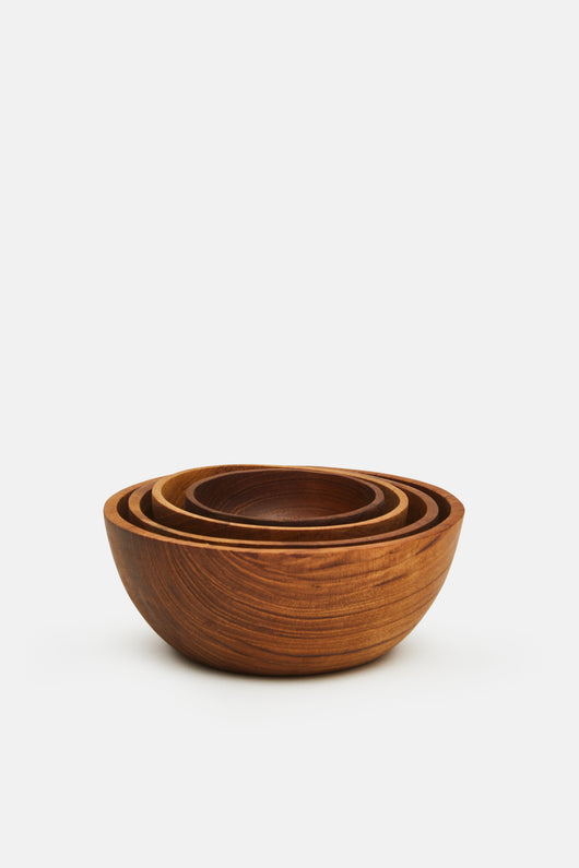 Teak Nesting Bowls - Set of 4