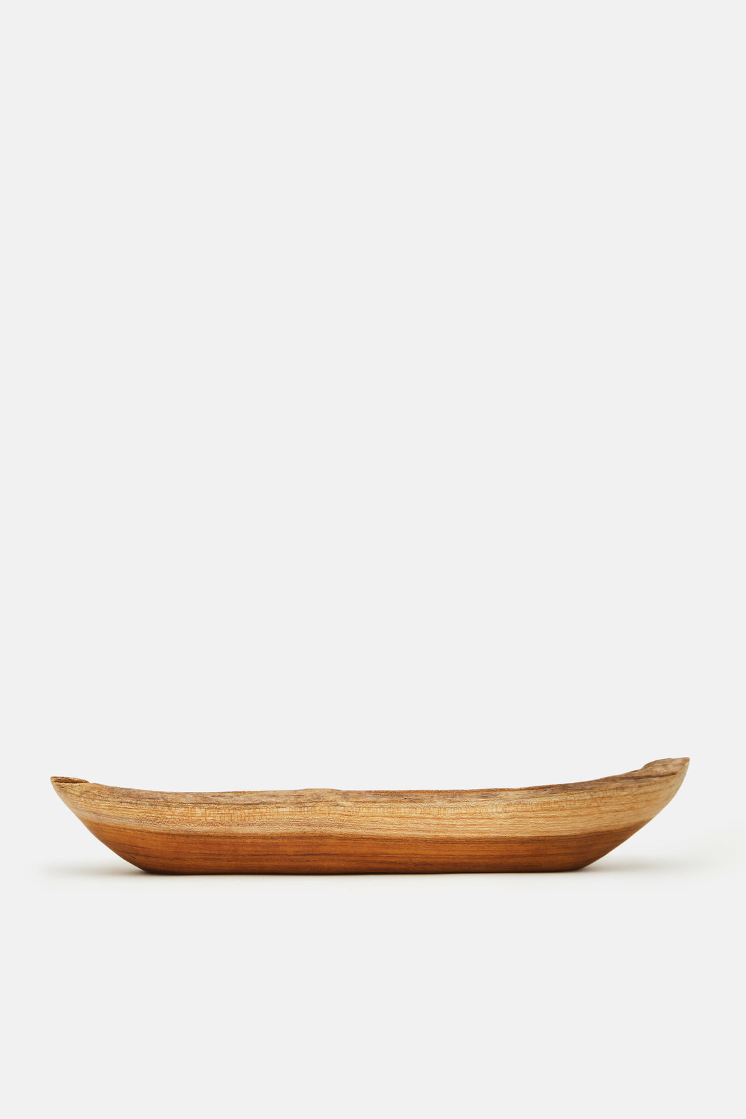 Large Teak Oval Dish
