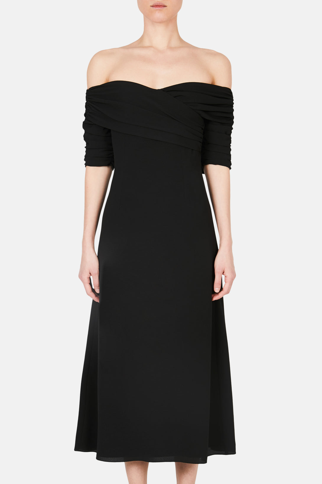 Francoise Off the Shoulder Dress - Black
