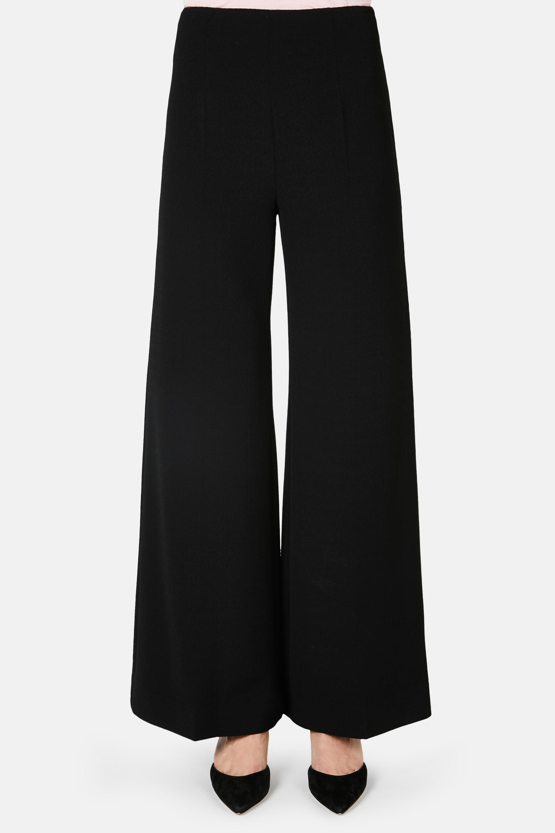 Hullinie Creased Front Trouser - Black