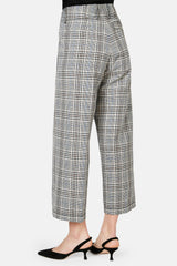 Wide Leg Trouser - Check