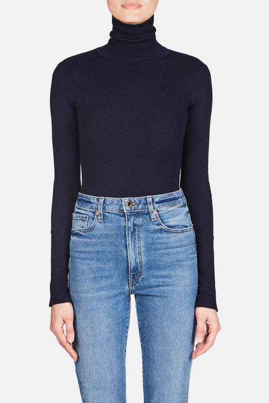 Cate Turtleneck Bodysuit - Navy