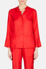 China Silk Jacket - Red