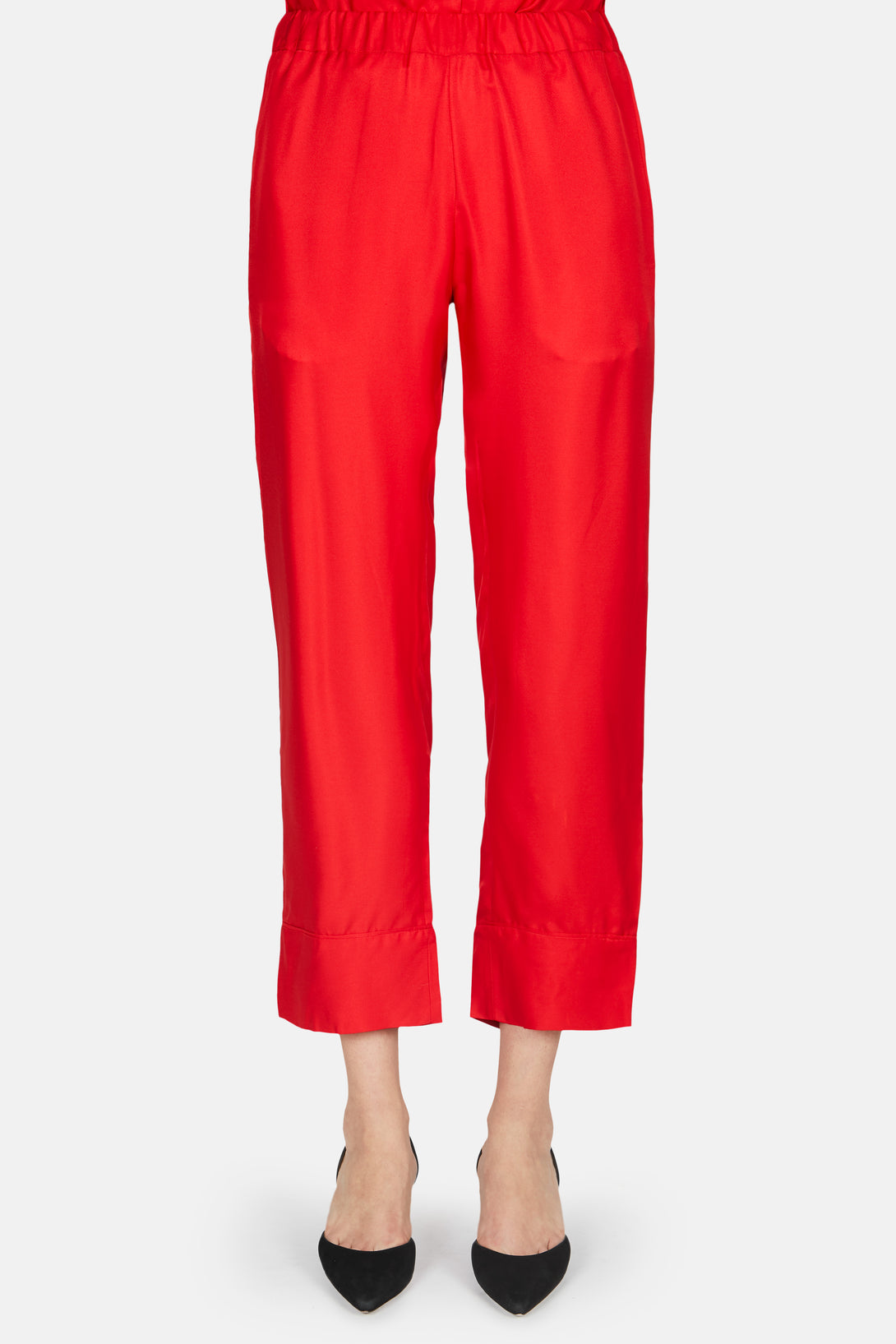 China Silk Pants - Red