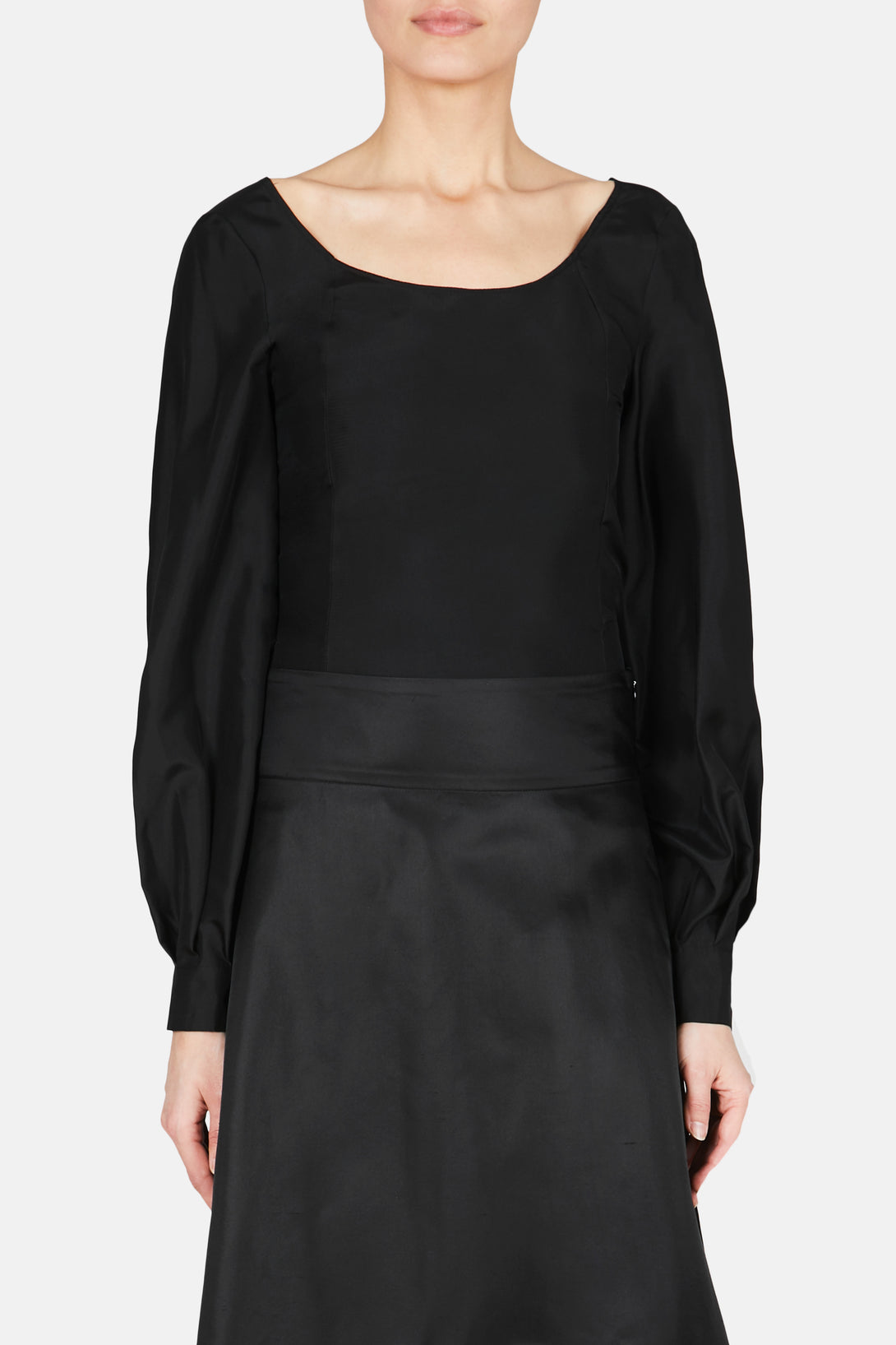 Abi Silk Blouse - Black