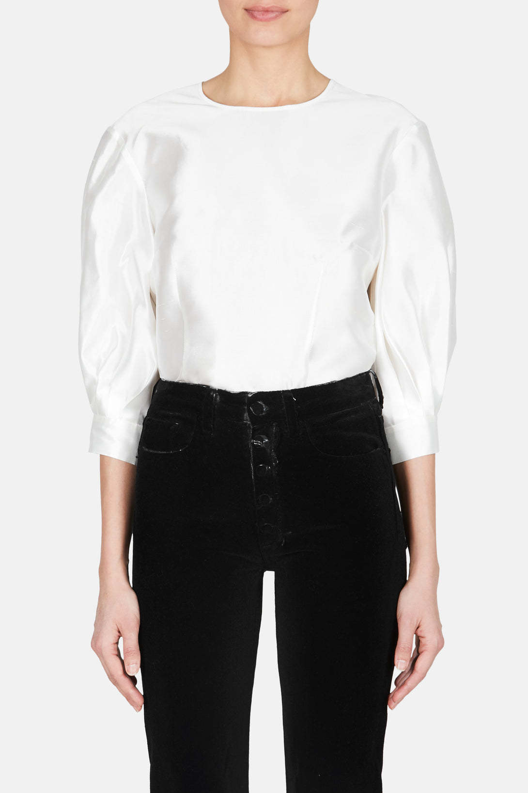 84cad80136 Ada Silk Blouse - Ivory – The Line