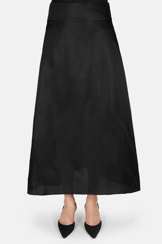 Linn Shantung Skirt - Black
