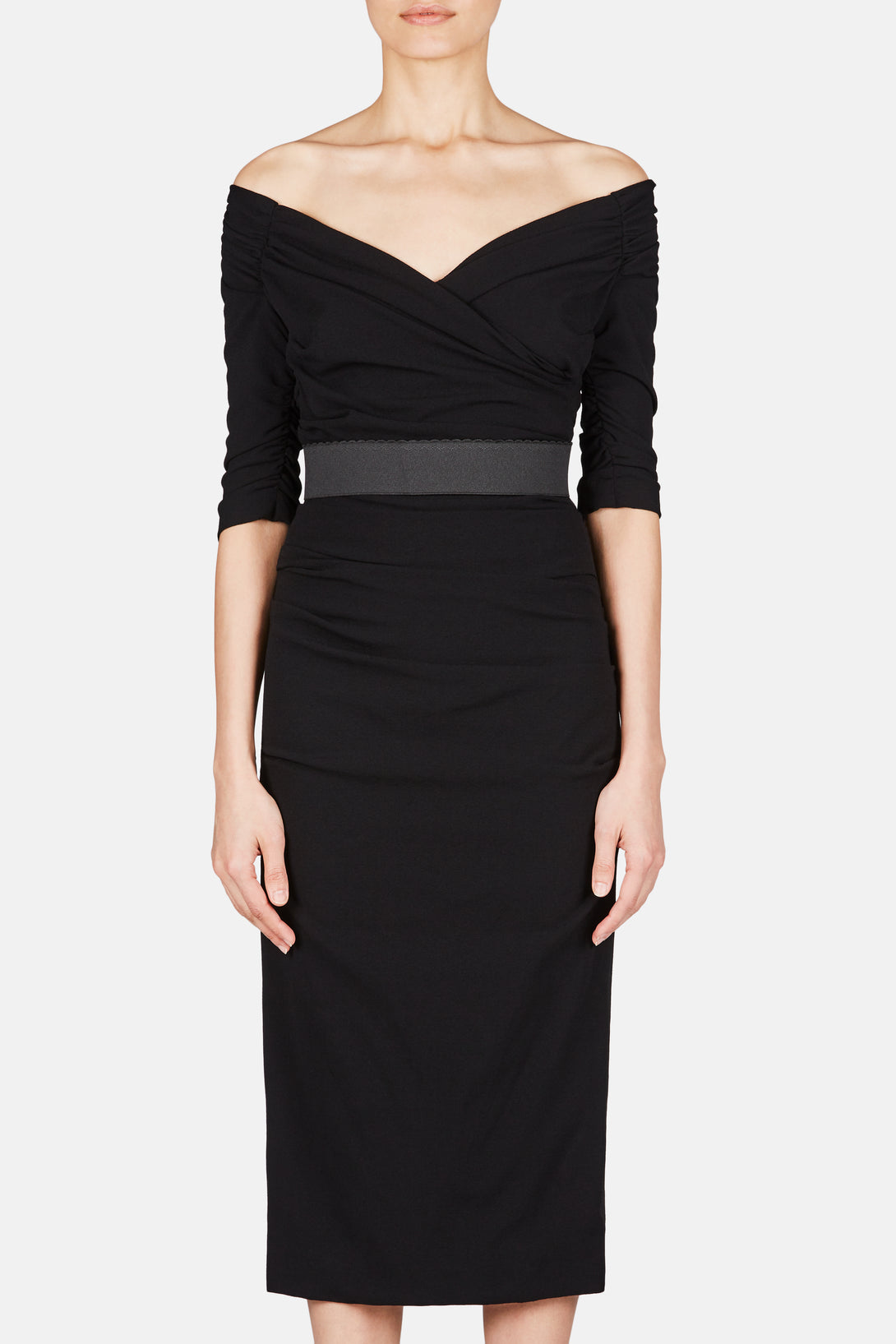 Off Shoulder Dress - Nero