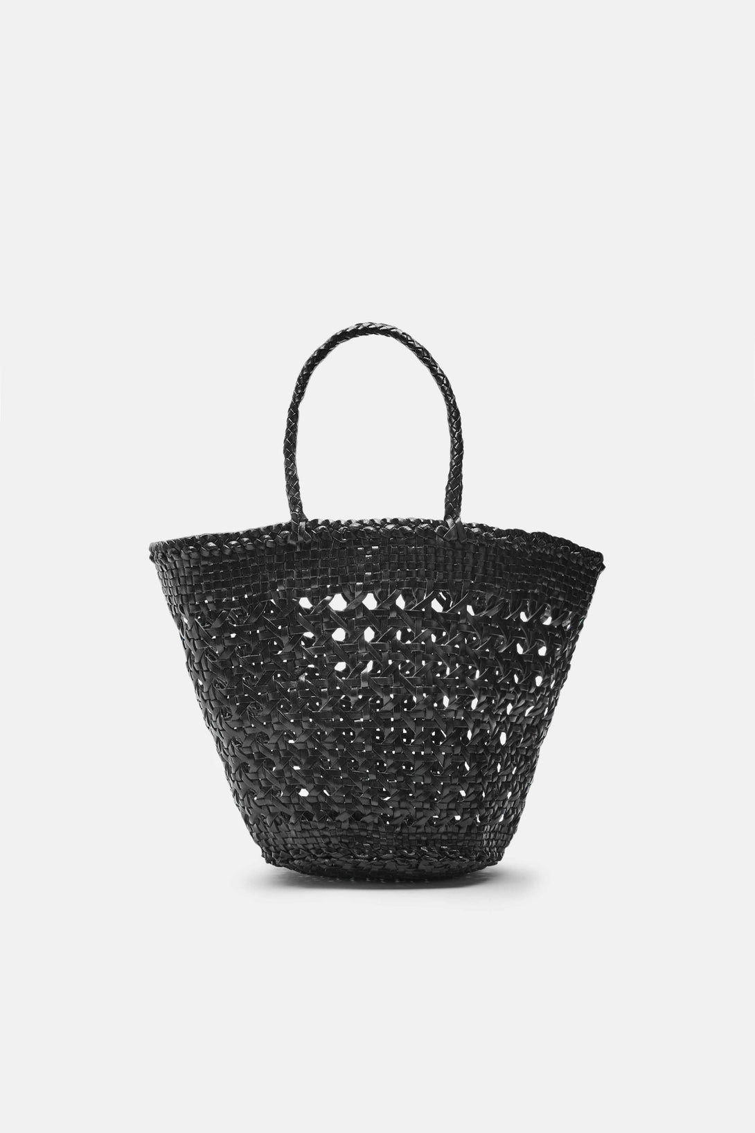 Cannage Small Bucket Bag - Black