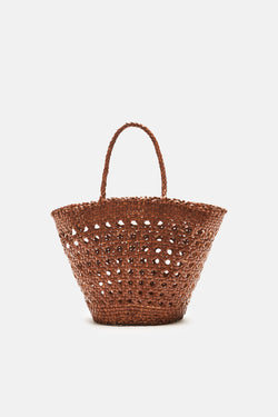 Cannage Small Bucket Bag - Tan