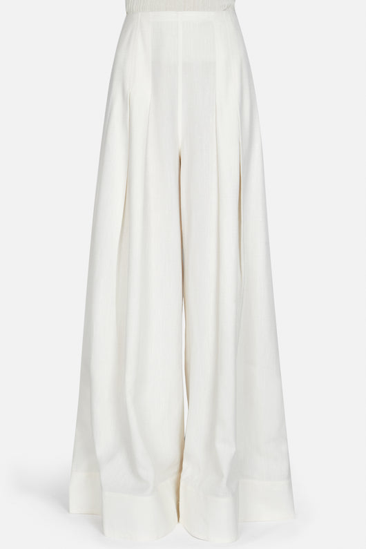 Le Pantalon Arcello Wide Leg Pant - Off White