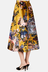 Teresa Skirt - Gold/Multi