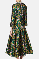 Geneva Dress - Green/Black/Yellow