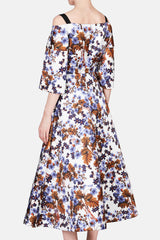 Karol Exposed Shoulder Full Skirt Dress - Meret Spring