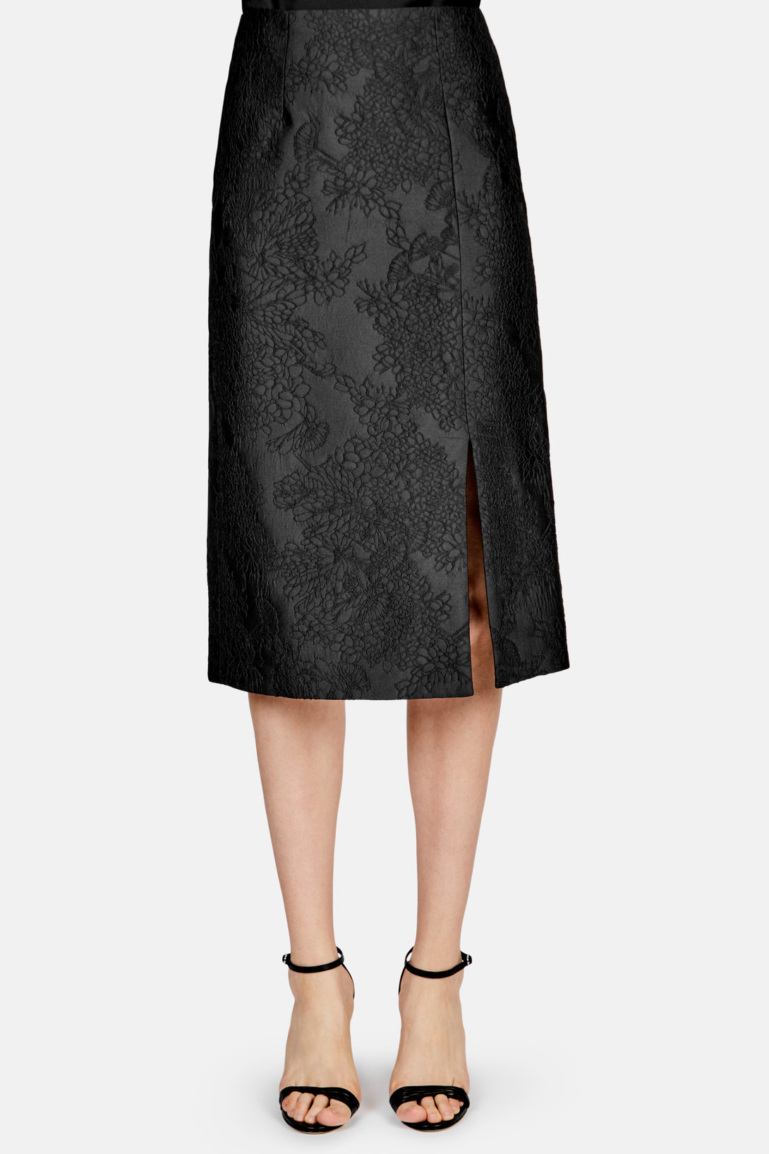 Tahira Skirt - Rose Jacquard Black