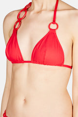 Lunaris Asymmetrical Ring Triangle Bikini Top - Laque