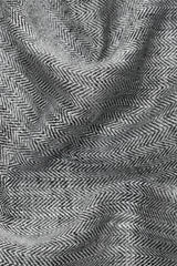 Linen Kitchen Cloth-Black and White Herringbone