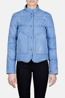 Wilfred Denim Puffer Jacket - Light Blue Wash
