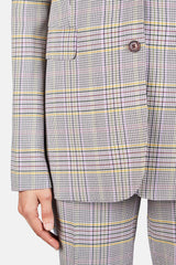 Sophie Blazer - Lavender/Green Plaid