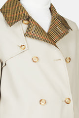 Claremont Reversible Trench - Camel/Red Check