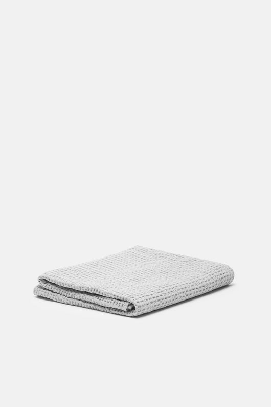 Simple Waffle Bath Towel - Light Grey