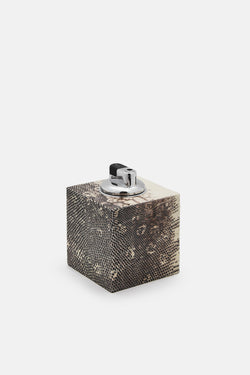 Lizard Square Table Lighter - Natural Ring