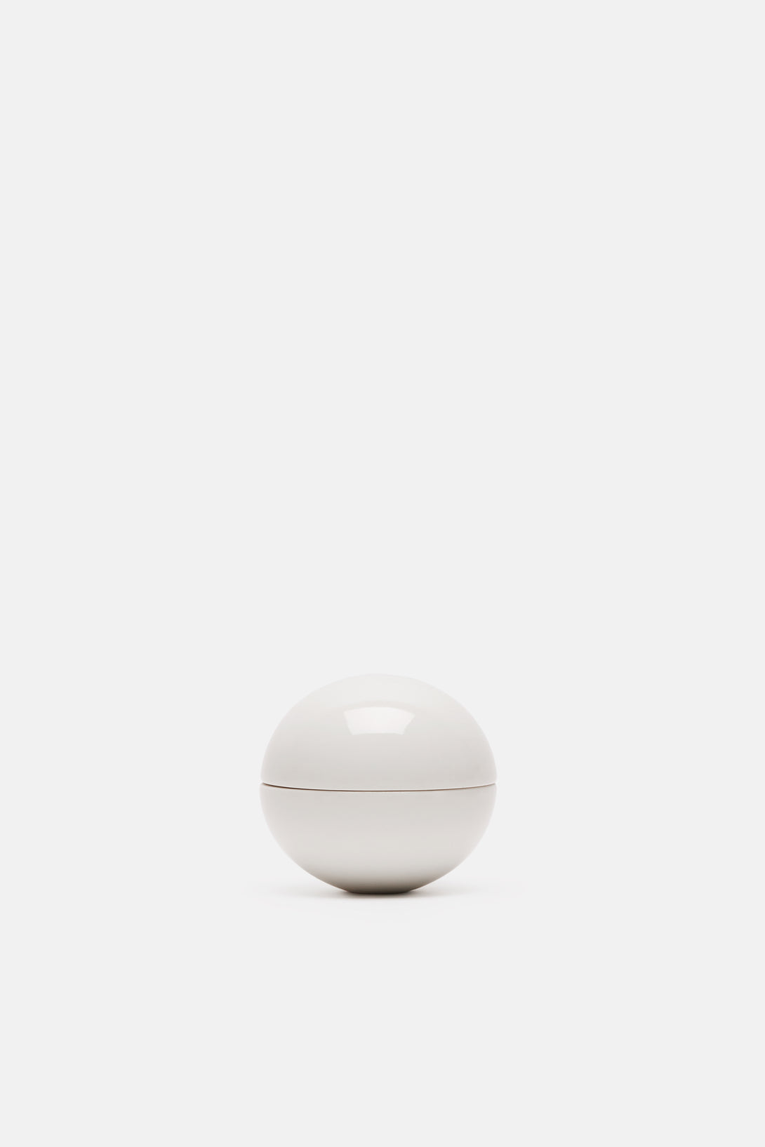 Gloss White Mini Spherical Lidded Container