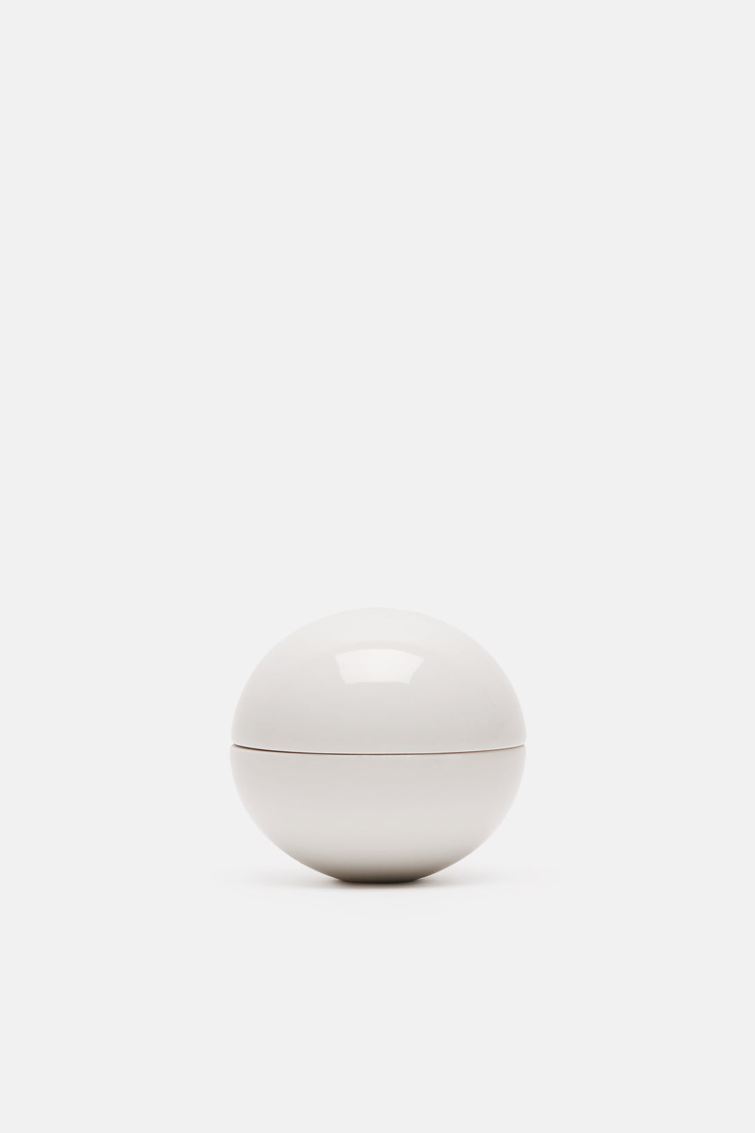 Gloss White Small Spherical Lidded Container