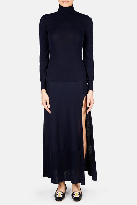 La Robe Baya Turtleneck Dress - Dark Navy