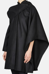 Le Manteau Bibi Cape Wrap Coat - Black
