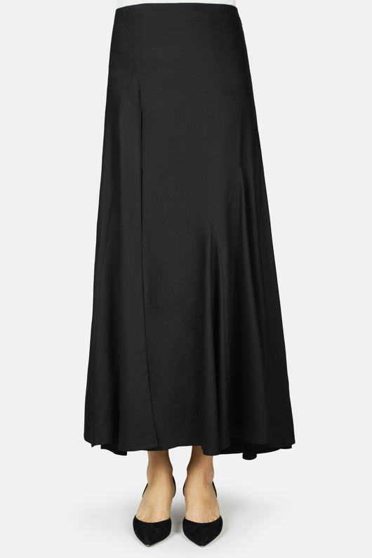La Jupe Faya Skirt with Front Slit - Black