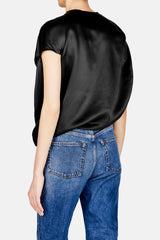 Asymmetric Circular Top - Black