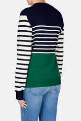 Striped Color Block Logo Mariniere - Emerald