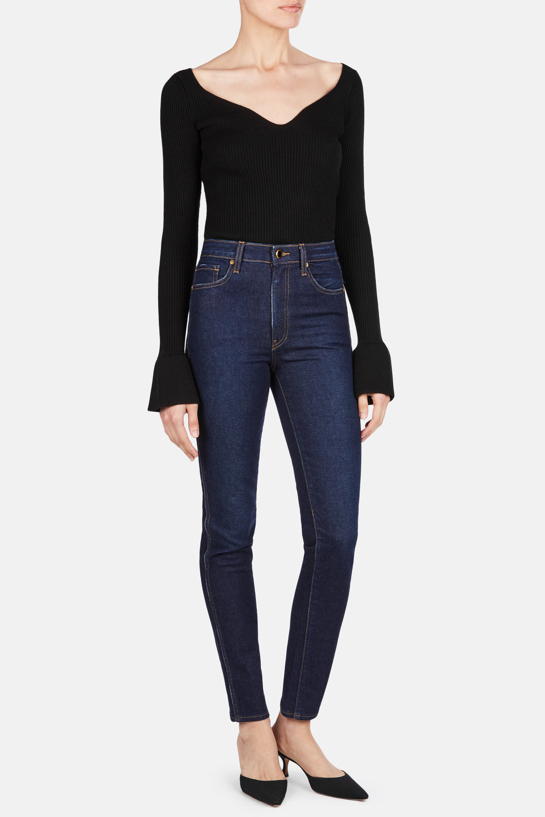 Vanessa High-Rise Straight Jean - Detroit – The Line