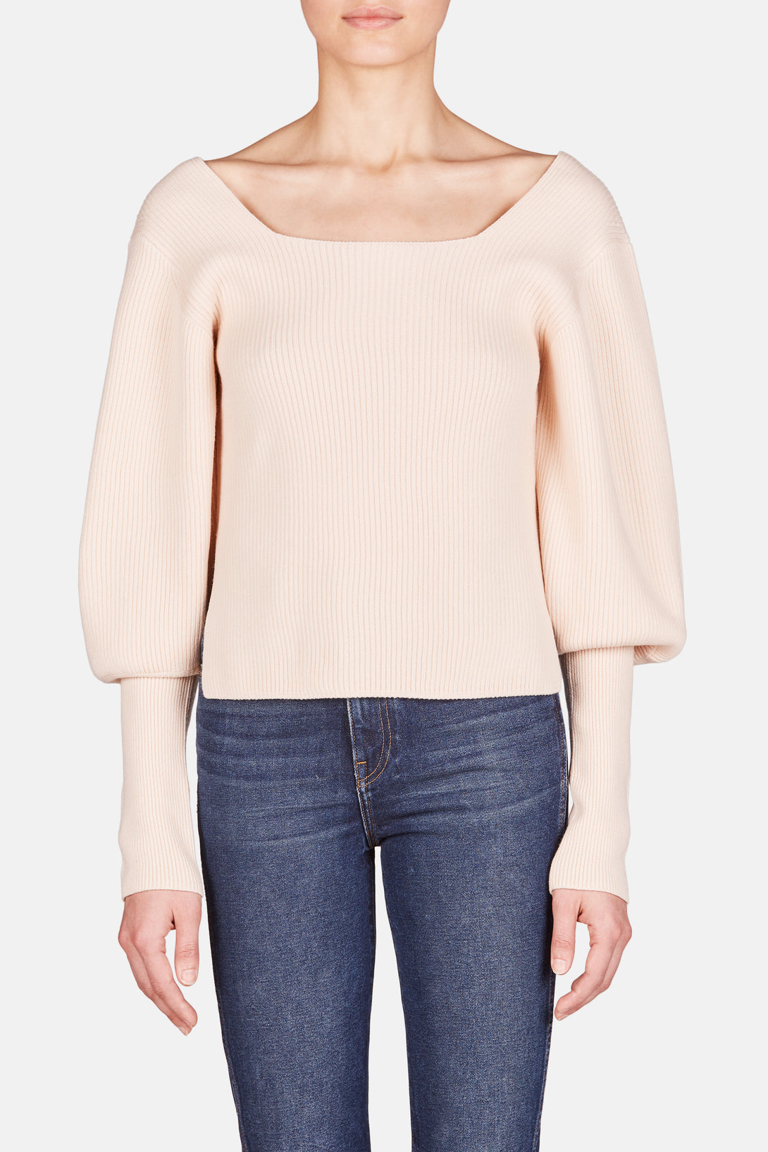 Lynette Puff Sleeve Sweater - Ivory