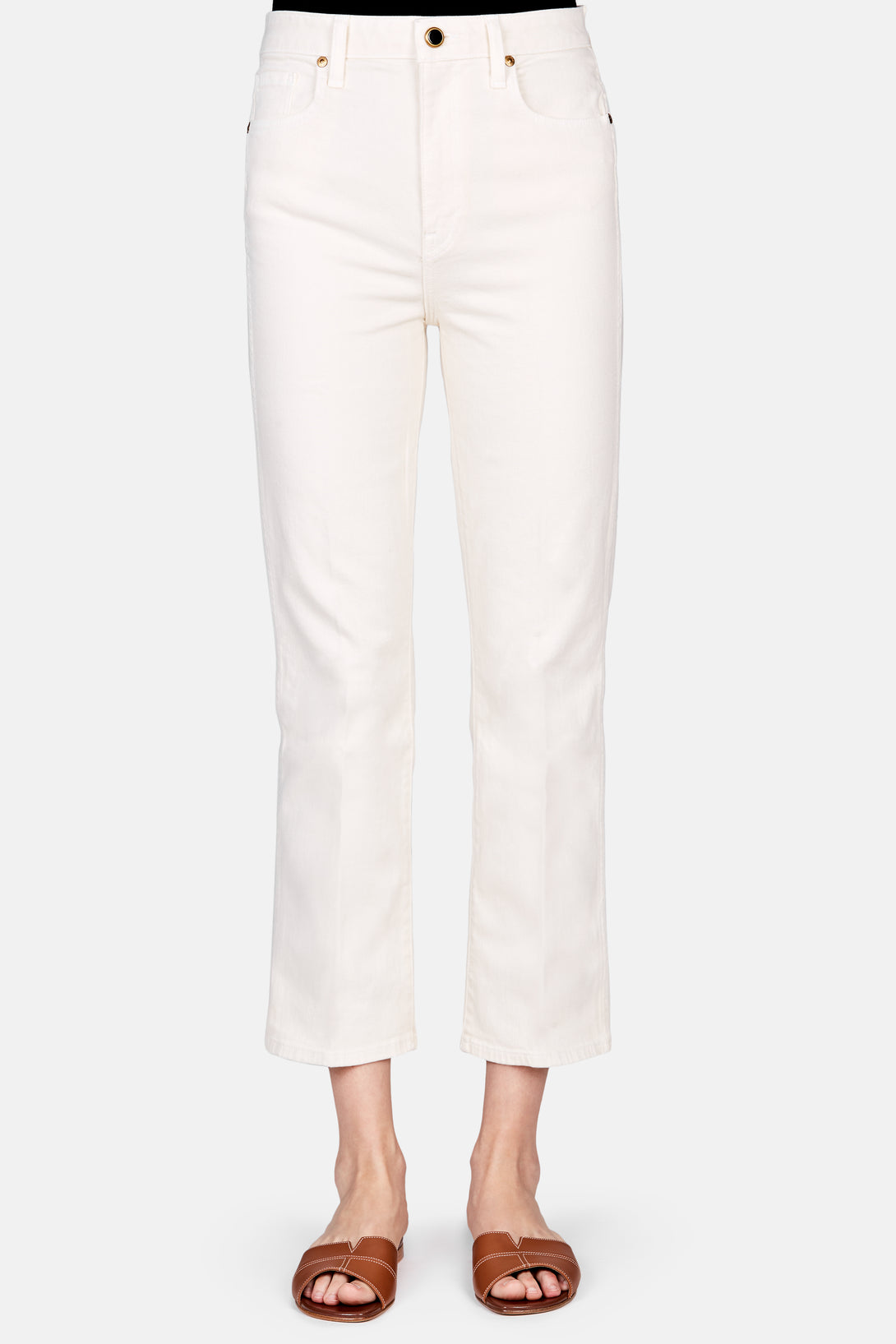 Benny Cropped Flare Jean - Ivory