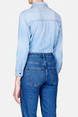 Sara Snap Front Denim Shirt - Dallas