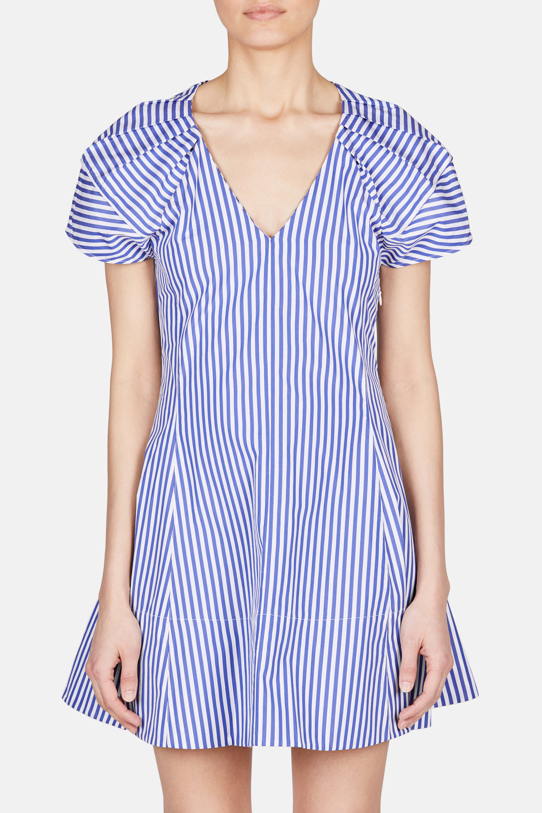 Briana Dress - Royal/White Stripe