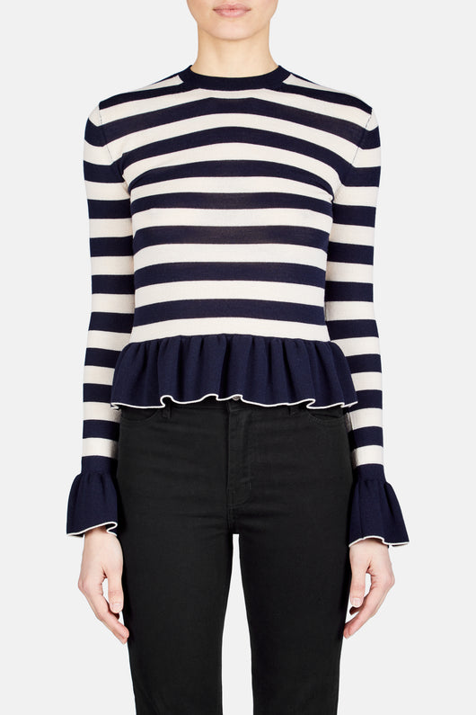 Claudia Sweater - Ivory/Navy