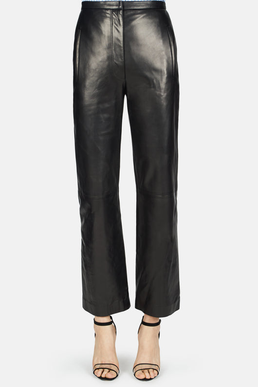 Roxanne High Rise Flared Pant - Black