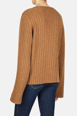 Loretta Ribbed Knit Sweater - Toffee