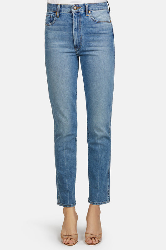 Victoria Straight Leg Jeans - Medium Crease