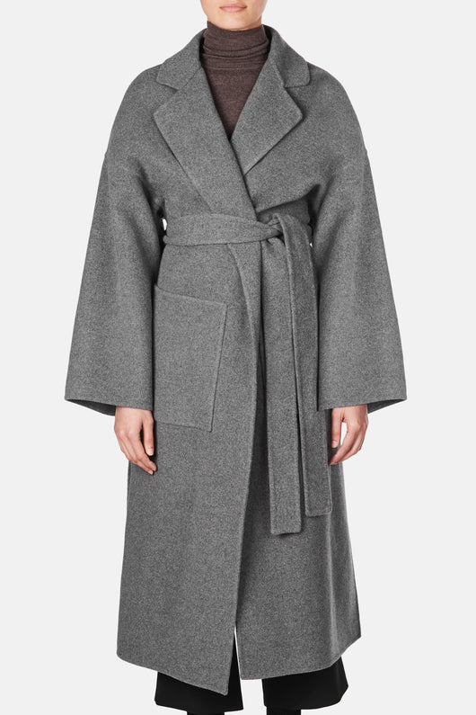 Double Face Wool Coat - Grey