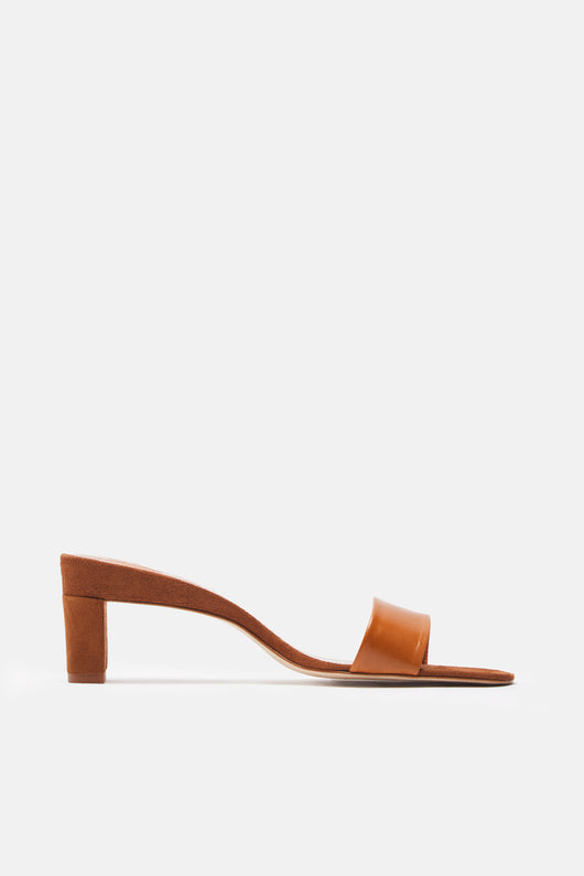 Low Mule Slide - Tan