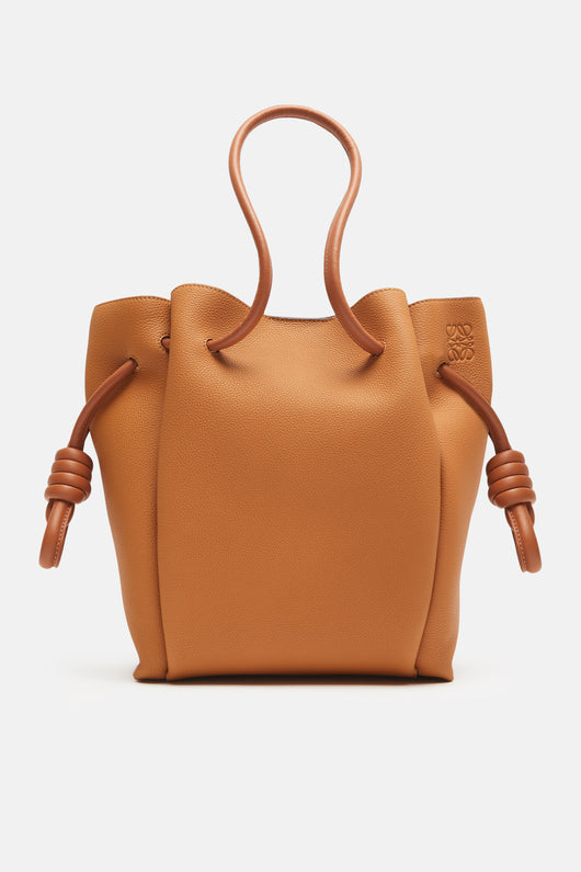 Flamenco Knot Tote Small Bag - Light Caramel/Tan