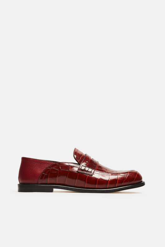 Slip On Loafer - Brick Red